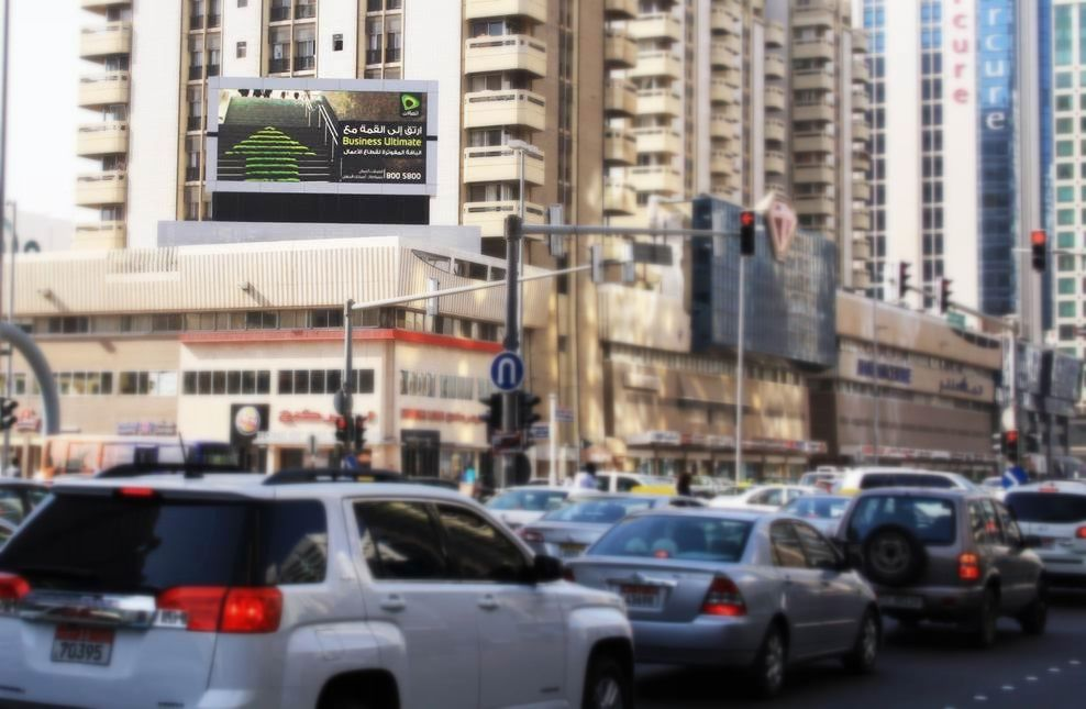 Digital screen advertising company abu dhabi uae