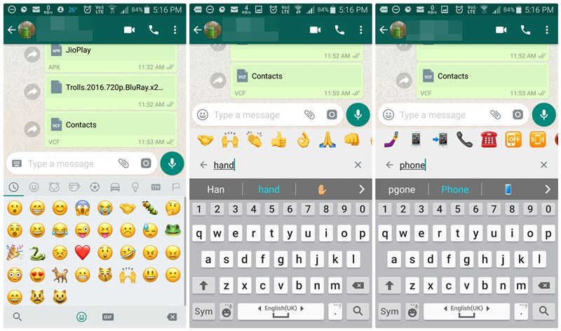 Advertising & Marketing Agency |Whatsapp rolling Emoji search